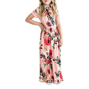 Girl's floral summer dress